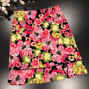 Lily Floral Ruffle Hem Skirt